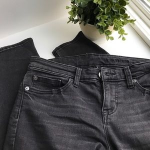 GAP Black Premium Skinny with Moto Detail